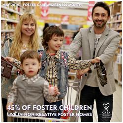 45% of foster children