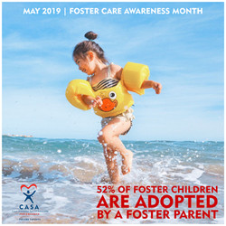 52% of foster kids are adopted