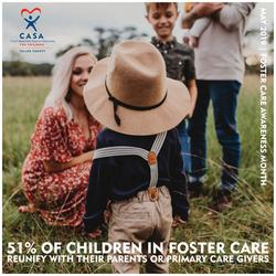 51% of foster children will reunify