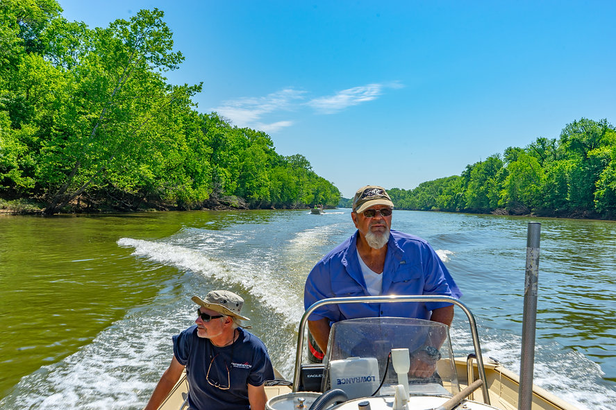 Heading out to fish on the Roanoke River