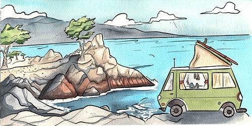 Monterey Van Scene