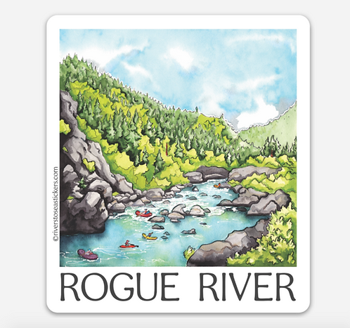 Rogue River Sticker