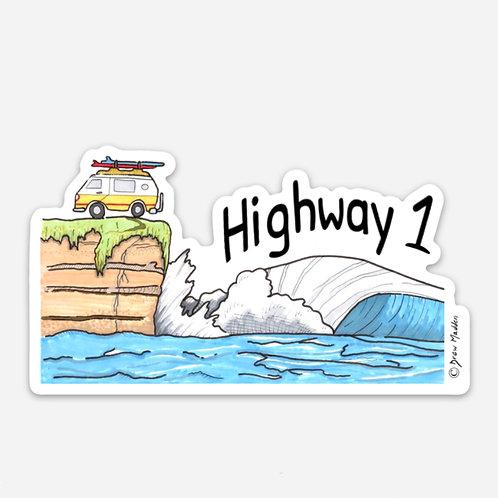 Highway 1 Van Cliff Sticker