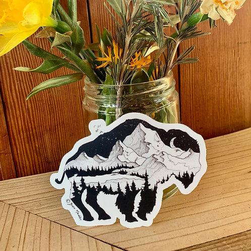 Mountain Buffalo Sticker