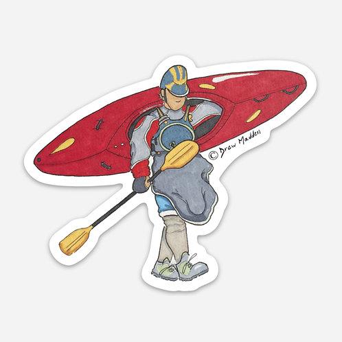 Kayak Portage Sticker
