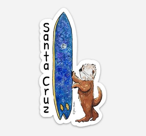 Santa Cruz Intergalactic Otter Stickers