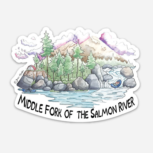 Middle Fork of the Salmon River Sticker