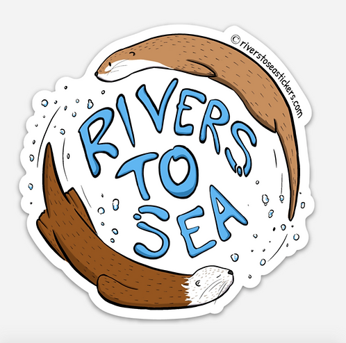 Rivers to Sea Sticker