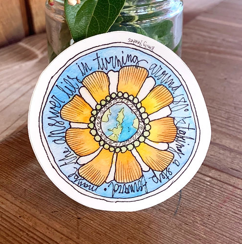 Sunflower Earth Sticker