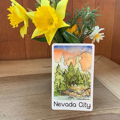 Nevada City Camp Scene