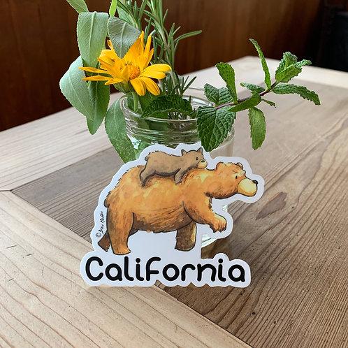 California Bear Dad & Cub