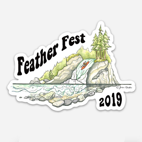 Feather Fest 2019 Sticker