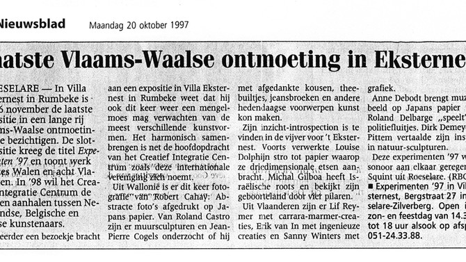 Last Vlaams Walloon Meeting in Eksternest