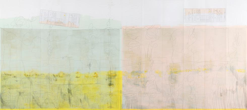A Yellow Garmushka 3/4            Landscape folds
