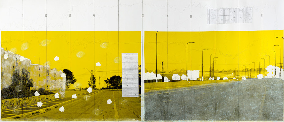 A Yellow Garmushka 1/4 - Landscape folds