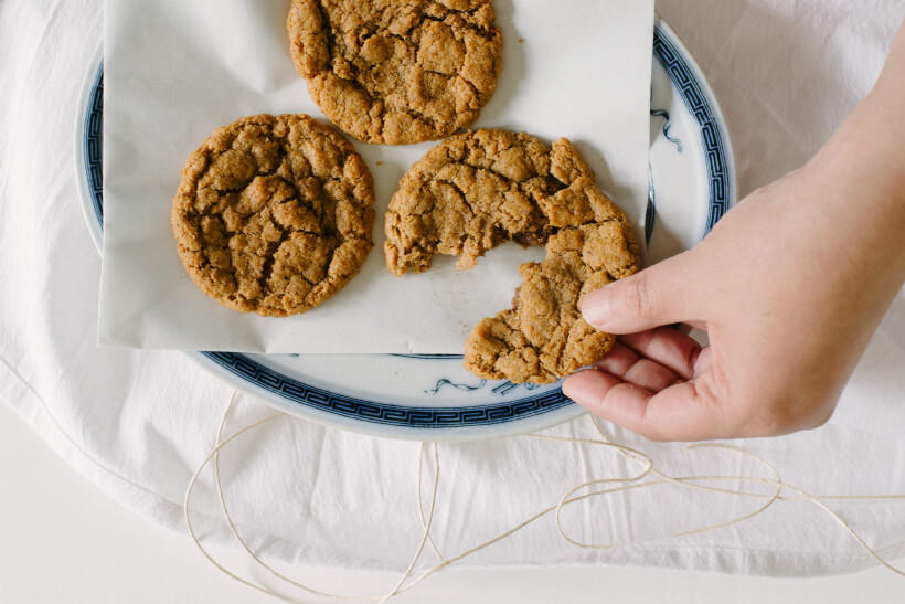 Almond Butter and Jelly Freezer Cookies