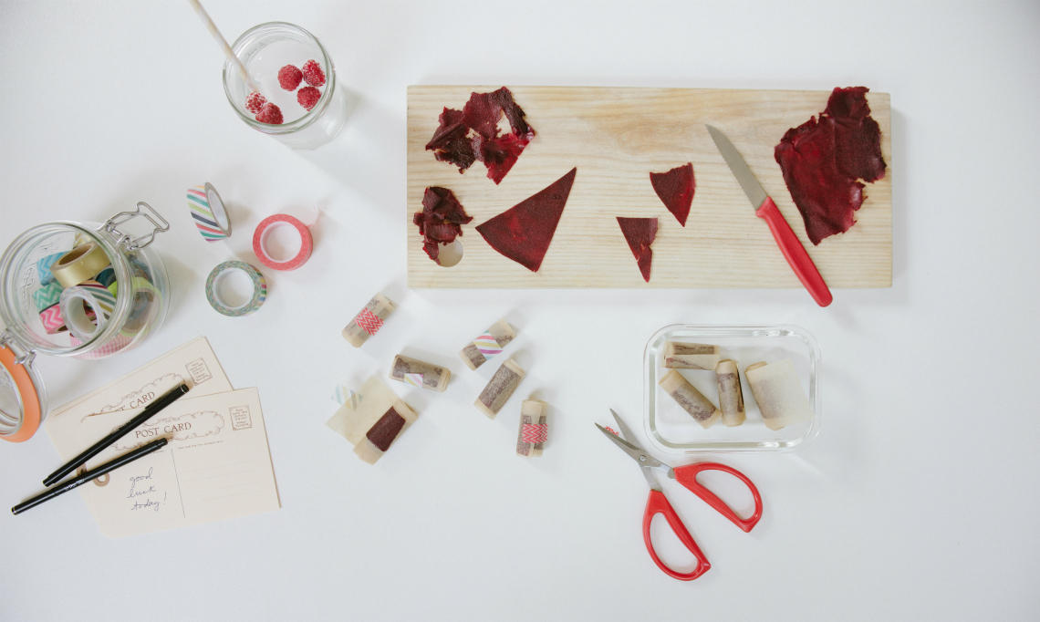 Pear-Beet Fruit Leather