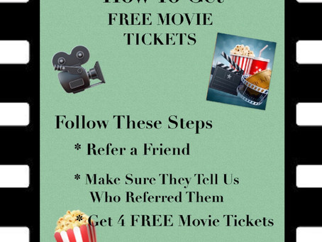 Get your FREE MOVIE TICKETS