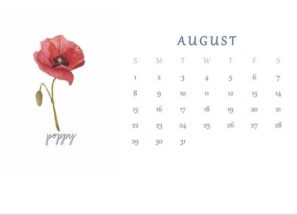 2021 Birth Flower Desk Calendar