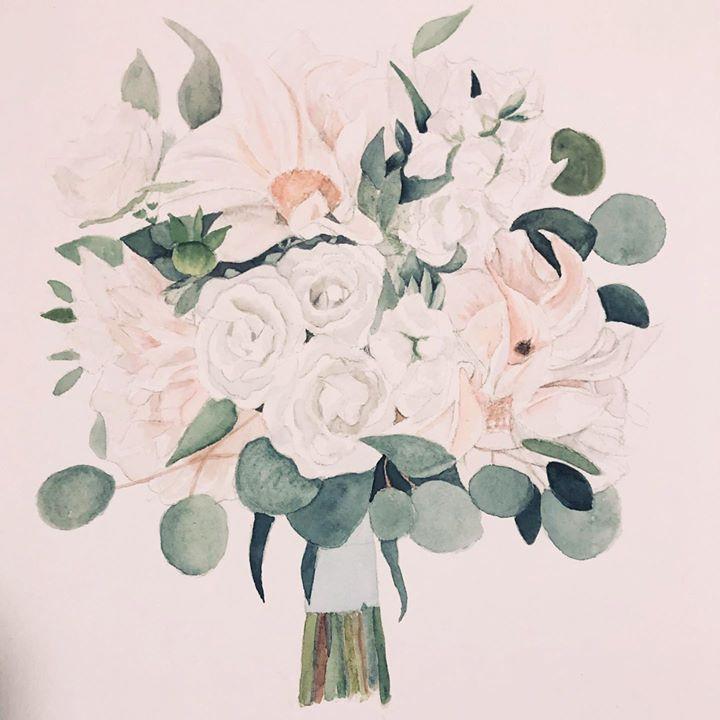 Bridal Bouquet Painting