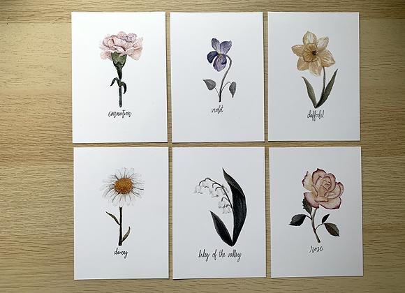Birth Flower Prints