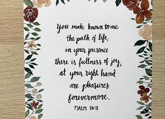 Psalm 16 Floral Print
