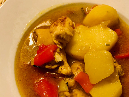 Kip curry met aardappel
