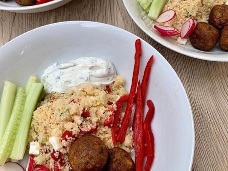 Couscous & falafel pokebowl