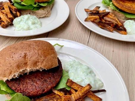 Veggie burger!