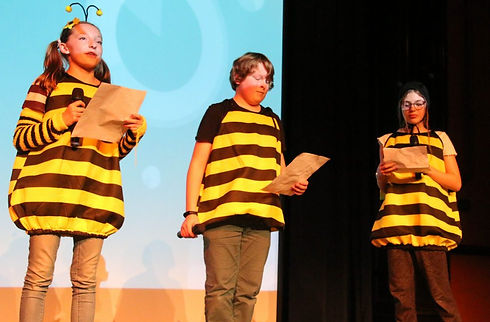 Students presenting as Bees