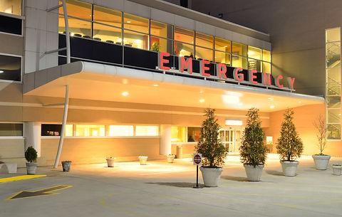 Emergency Room entrance at a hospital at
