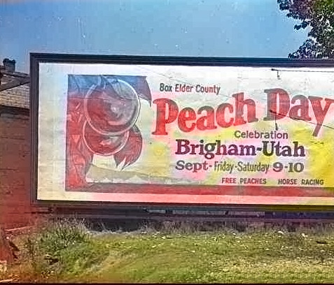 Peach Days Sign - c1927