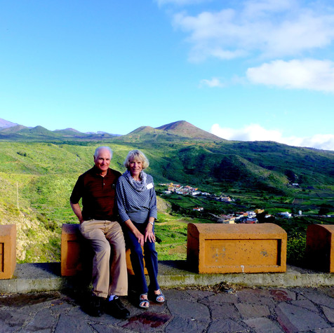 Mike & Charmaine - Canary Islands - Teide Volcano in background
