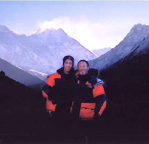 Pete and Son in Tibet (Mt Everest)