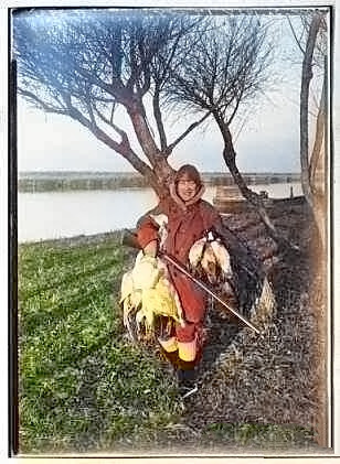 Woman Hunting Ducks at the Bird Refuge - c1928