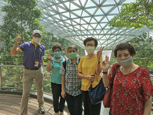 Group of Seniors joining our Jewel Changi Airport Tour