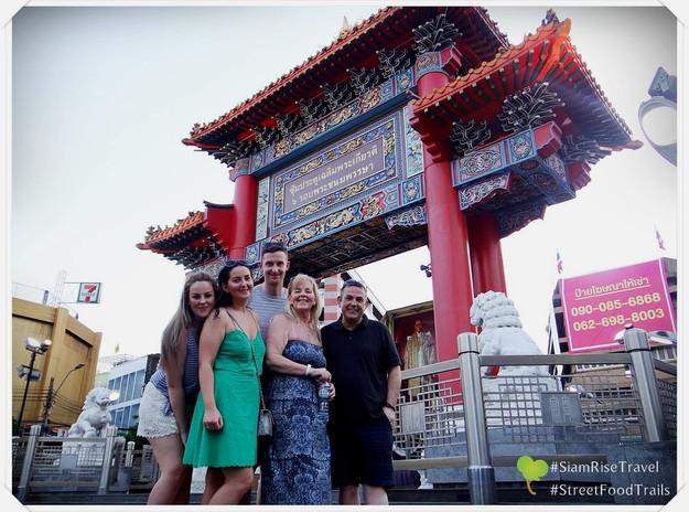 International tourists visiting temples in Bangkok