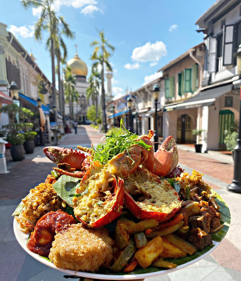 Enjoy a delicious lobster meal at Kampong Glam in Singapore