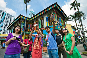 Little India - Visitors with Camera outs
