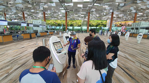 Chinese speaking tour at Changi Airport