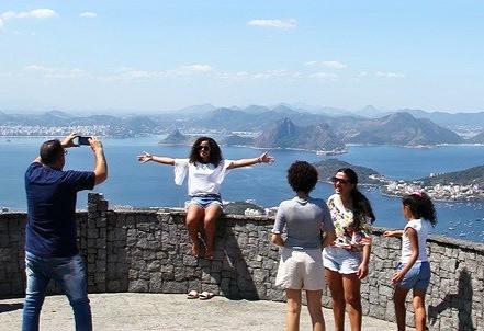 International tourists sightseeing in Rio de Janeiro