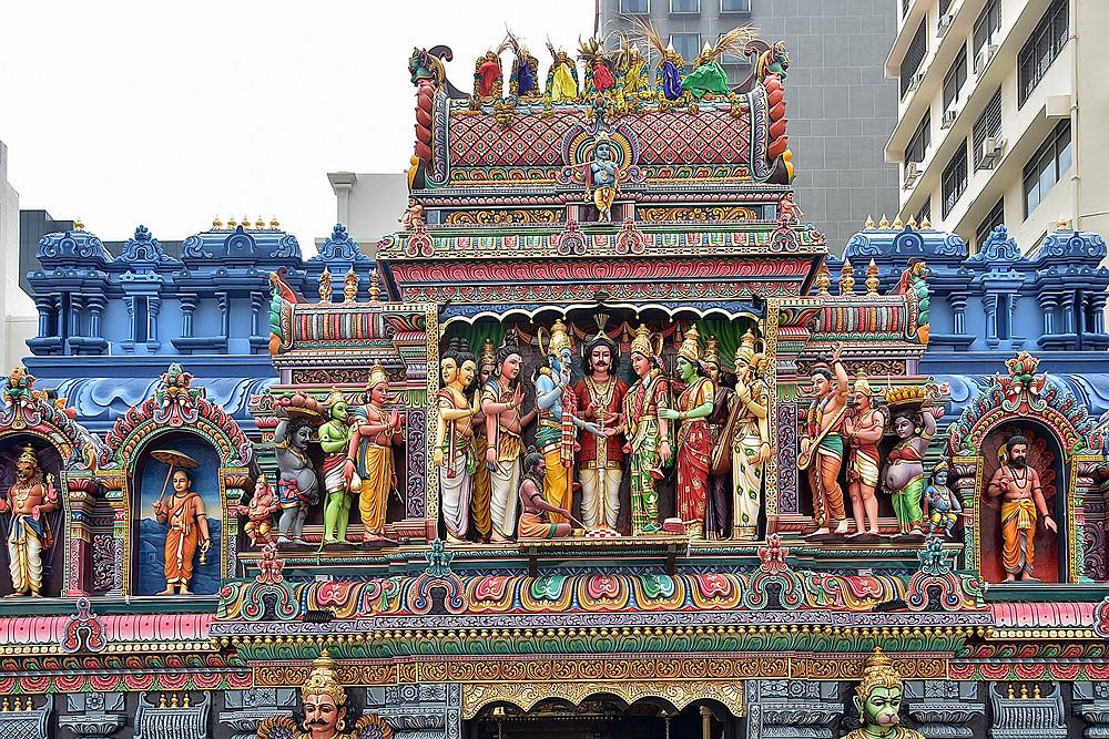 Visit Hindu Temple at Waterloo Street in Singapore