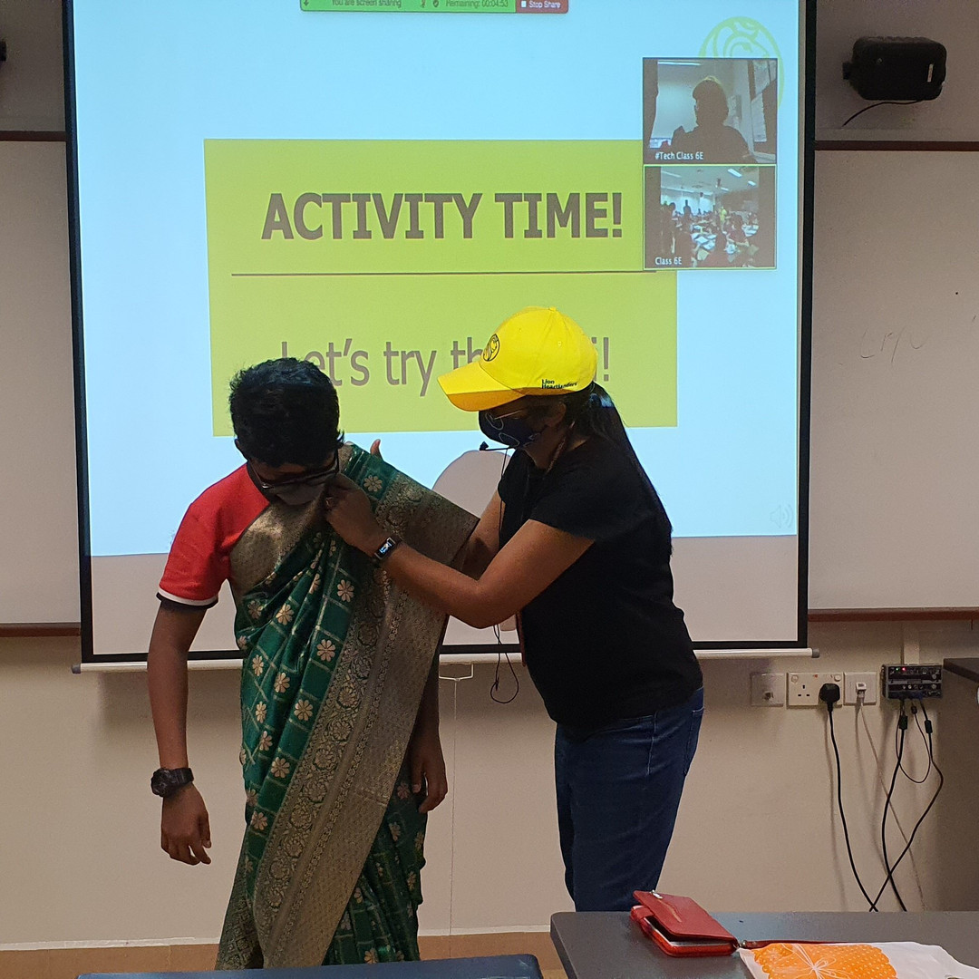 faciliatators in classroom doing cultural activities