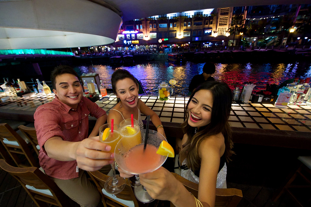 Enjoy a drink at the beautiful Boat Quay