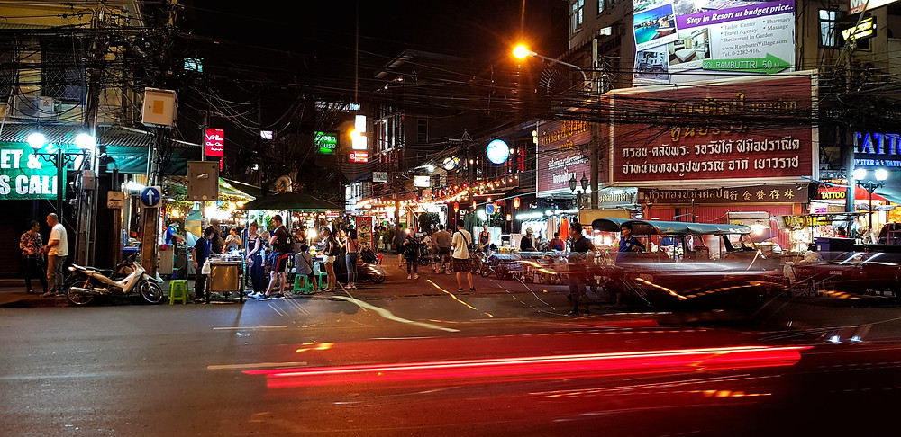 Bustling streets of Bangkok city centre