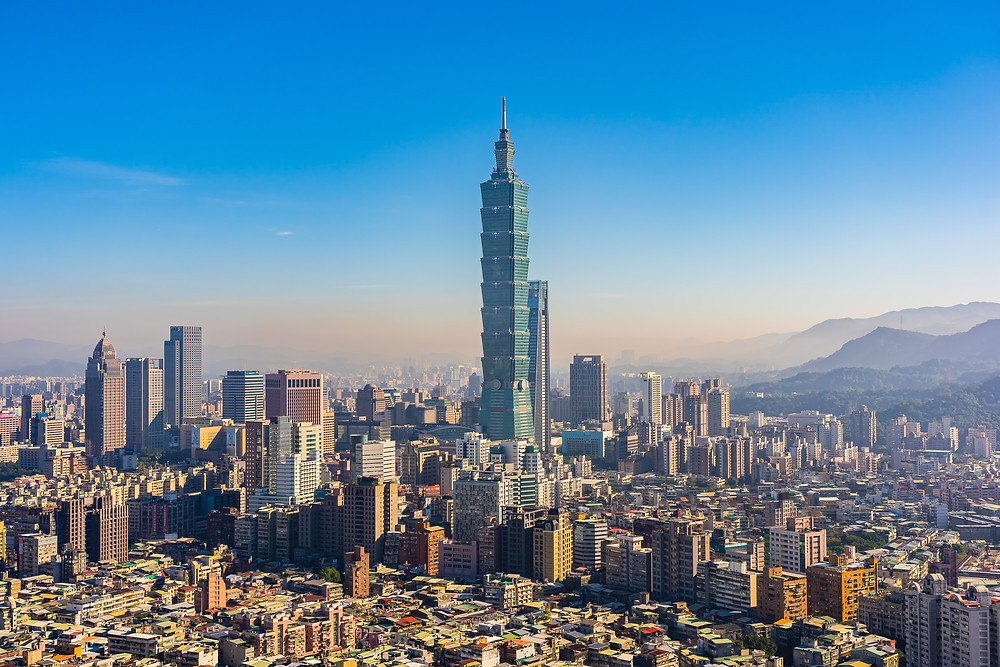 The Taipei 101 Tower in Taiwan