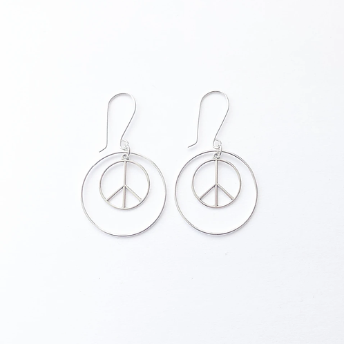 Peace Hoops by The Pirate + the Gypsy