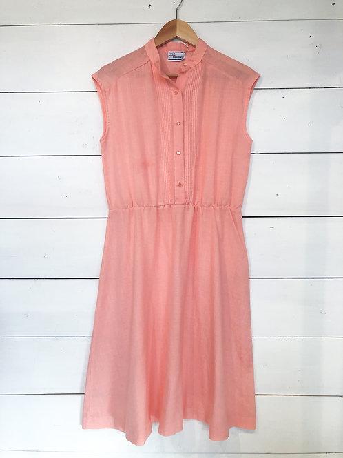 Peach Pink Pintuck Dress