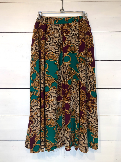 Silk Lux Print Skirt