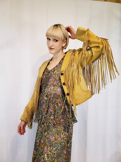 Leather Ranch Fringe Western Jacket